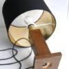 Vintage Brass Oak Table Lamp 2