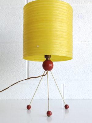 1950s Atomic Tripod Table Lamp