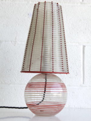 1950s Glass Table Lamp 3