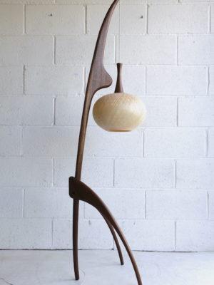 1950s Praying Mantis Floor Lamp by Jean Rispal