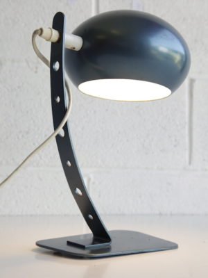 1970s French Blue Desk Lamp 1